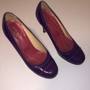 Purple Kate Spade Kitten Heel Size 6